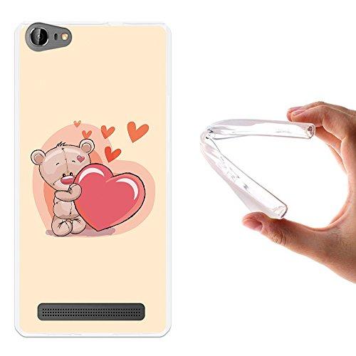WoowCase Doogee Y200 Hülle, Handyhülle Silikon für [ Doogee Y200 ] Liebevoller Teddybär Handytasche Handy Cover Case Schutzhülle Flexible TPU - Transparent