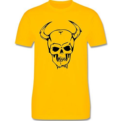 Piraten & Totenkopf - Totenkopf - Herren Premium T-Shirt Gelb