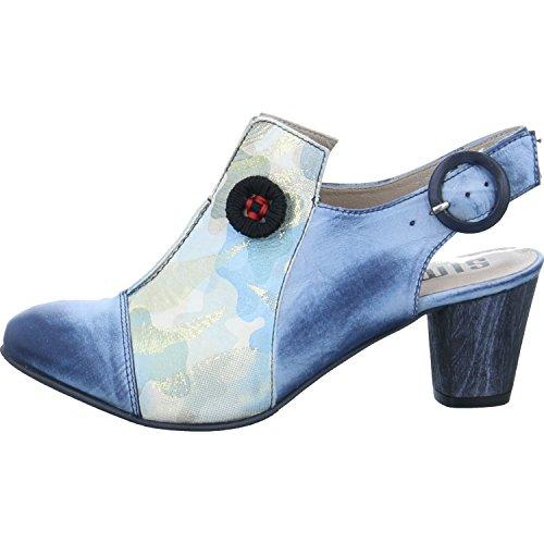 Simen Damen Sling-Pumps Größe 38 Blau (Blau)
