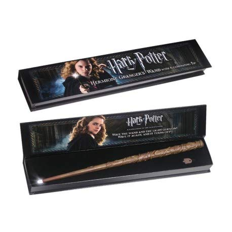 Noble Collection Varita mágica luminosa – Hermione