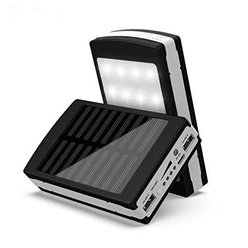 TianranRT Mobile Power Fast Charge 8000mAh Dual USB Tragbar Solar Akku Ladegerät Power Bank Für Zelle Telefon (Schwarz) (Bank Power Zelle Solar)