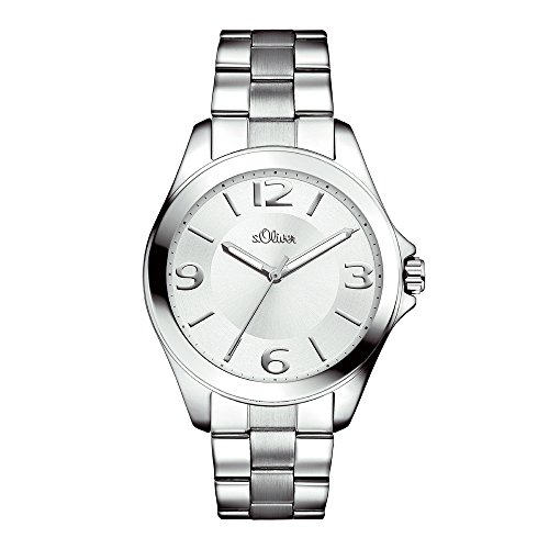 s.Oliver Damen-Armbanduhr Analog Quarz SO-15102-MQR