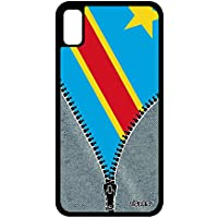utaupia Coque iPhone XR Silicone Drapeau rdc Congo Kinshasa congolais Etui  Foot en Apple iPhone XR 38191f0b0169