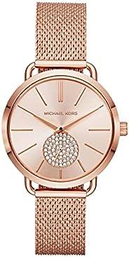 Michael Kors Dress Watch Womens Quartz Fashion Watch, Analog and Stainless Steel -
