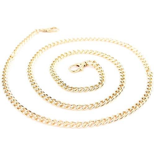 Ersatzteil Karabiner Ringe Bastelbedarf für Handtaschen, Farbe:Schulterkette Gold 118cm