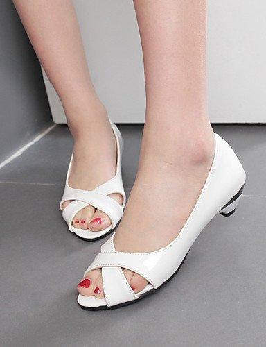 UWSZZ IL Sandali eleganti comfort Scarpe Donna-Sandali / Scarpe col tacco-Tempo libero / Formale / Casual-Tacchi / Spuntate-A cono-Finta pelle-Nero / Blu / Rosa / Bianco White