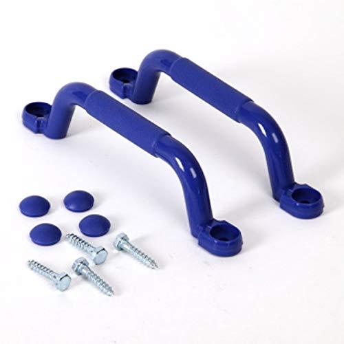 KBT Haltegriffe 1 Paar (2 Stück) Für Spielgeräte, Spieltürme, Stelzenhäuser, Spielhäuser und Spielanlagen (Blau)