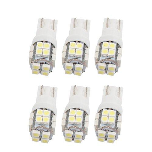 6 x T10 W5W 20 SMD LED Blanc Voiture Côté inversé Lampe Coin Coin 12V