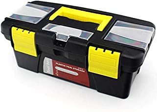 Techsun Plastic Home Tool Box Set with Removable Removable Compartments - Multicolor
