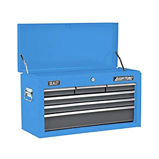 Sealey AP2201BBMB Topchest 6 Drawer with Ball Bearing Slides - Matte Blue