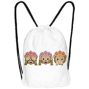 41Pp2QrbdUL. SS300  - hanessa Yute Bolsa Emoticono Emoticons Smiley Smilie Diseño Diseño Bolsa de Deporte Bolsa Mochila ba3329Gym Bag Mochila Hipster Fashion Sport de Bolsa