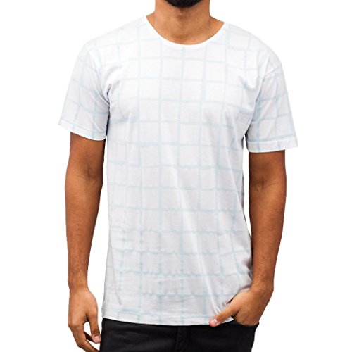 Cazzy Clang Herren Oberteile / T-Shirt Checked III White