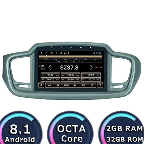 ROADYAKO 2Din 10.1Inch Auto Parts Electronic pour Kia Sorento 2015 2016 2017 2018 Android 8.1 Autoradio Stéréo Radio GPS Navigation WiFi 3G RDS Miroir Lien FM AM Bluetooth Audio