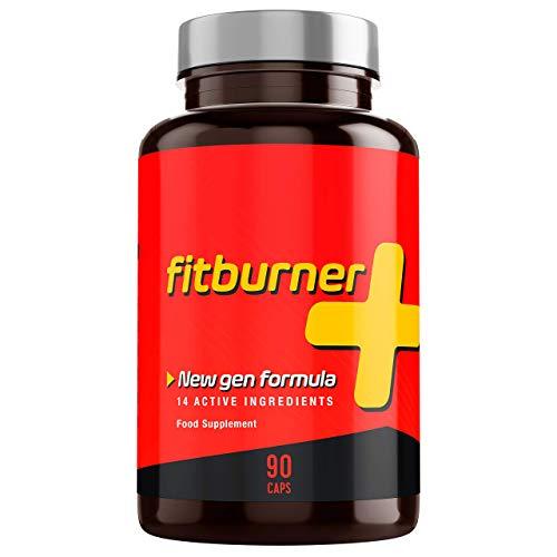 Fitburner+ | Brûleur de Graisse Puissant avec 14 Ingrédients Actifs et Naturels | Extra Fort | Pour Hommes et Femmes | 90 Gélules Végétales