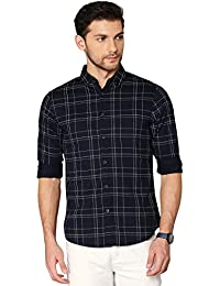 Dennis Lingo Men's Checkered Slim Fit Casual Shirt