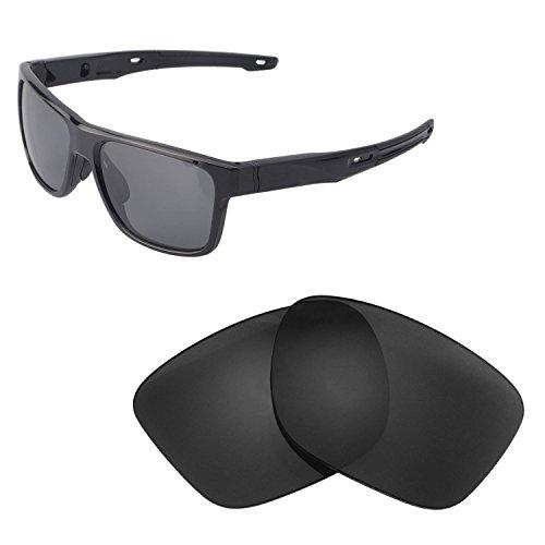 Walleva Ersatz Linsen für Oakley crossrange-verschiedene Optionen, Black - Polarized