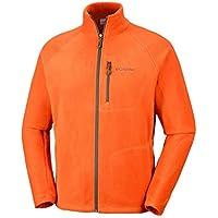 Columbia Fast Trek II Full Zip, Chaqueta Forro Polar para Hombre, Naranja (Backcountry Orange/Peatmoss), M