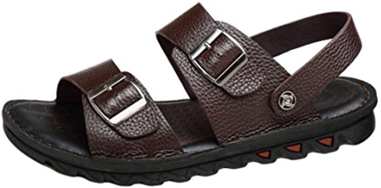 Insun Hombre Sandalias Respirable Cuero Playa Zapatos
