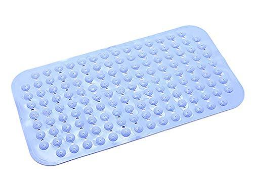 JMsDream Badezimmermatte mit Saugnapf, rutschfest, groß, JJJJD26bl-1, blau -