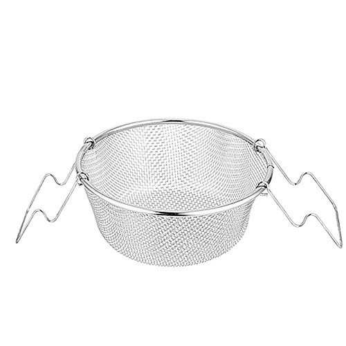 Edelstahl Tragbar Fried Basket rund Frites Huhn Flügel Fried Snack Korb faltbar Frittieren...