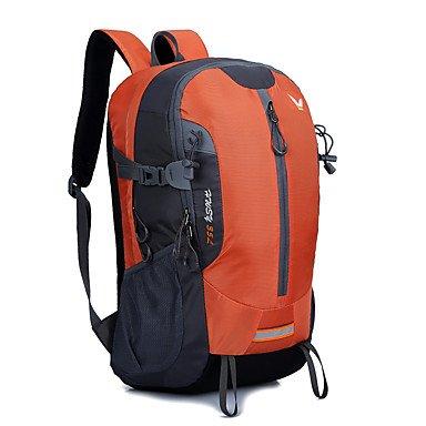 35 L Rucksack Klettern Freizeit Sport Camping & Wandern Regendicht Staubdicht Atmungsaktiv Multifunktions Orange