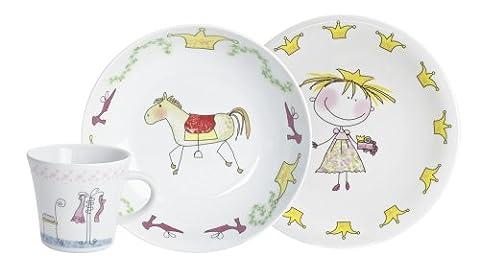 Kahla Ensemble vaisselle 3 pièces pour enfant Motif princesse