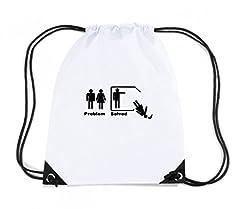 Idea Regalo - T-Shirtshock - Zaino Zainetto Budget Gymsac MAT0021 Divorzio Maglietta, Taglia Capacita 11 litri