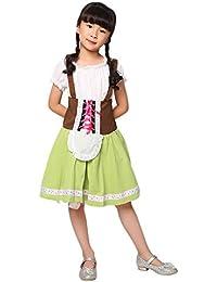 8f27435a1ae2d9 Blaward Dirndl für Kinder, Dirndl Kostüm Kinder Kleid grün Heidi  Oktoberfest Trachten-Kleid Mädchen