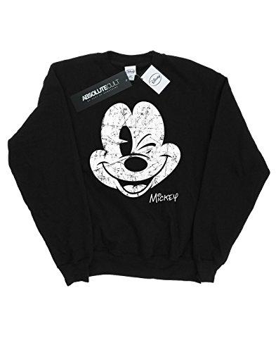 Disney hombre Mickey Mouse Distressed Face Camisa De Entrenamiento