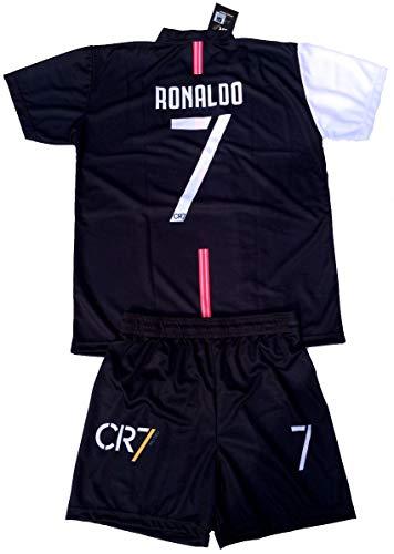 Cr7 museu completo ronaldo 7 ufficiale 2019-20 bambino uomo adulto t-shirt maglia + pantaloncini pantaloncino completino marchio di cristiano ronaldo (8 anni)