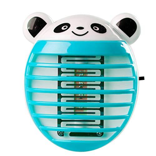 TianranRT LED Sockel Elektrisch Moskito Fliegen Käfer Insekt Falle Mörder Zapper Nacht Lampe Lichter (Blau) (Elektrische 110v Seilwinde)