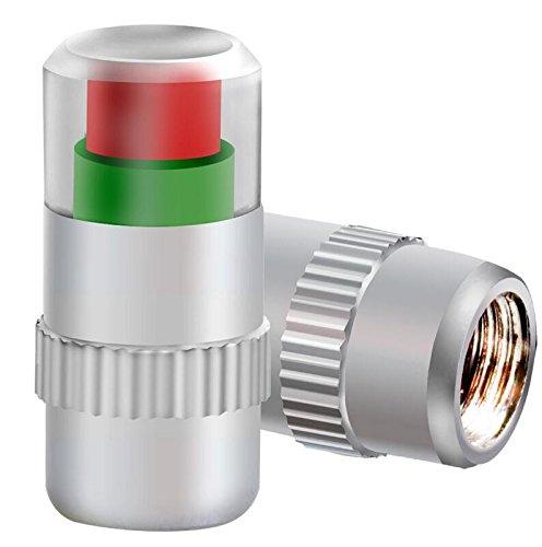 jinzhicheng 4PCS Auto Anti Staub Reifen Monitor Druck Sensor Anzeige Ventilkappen