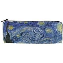 4c3955ee8713c Ahomy Estuches de lona estuche Van Gogh Starry noche luna cremallera bolsa  de lápiz para adolescentes