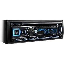 Alpine CDE-196DAB - Radio para coches (200 W, pantalla LCD, USB, con Bluetooth, FM/LW/MW, 3 salidas de preamplificación), negro