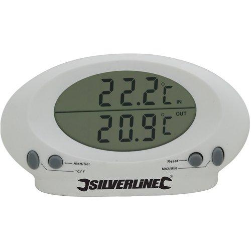 Silverline 675133 Innen-/Außenthermometer -50 °C bis +70 °C