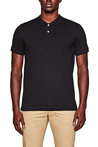 ESPRIT Herren Poloshirt 998EE2K808, Schwarz (Black 001), Medium (Bio-baumwoll-piqué Polo)