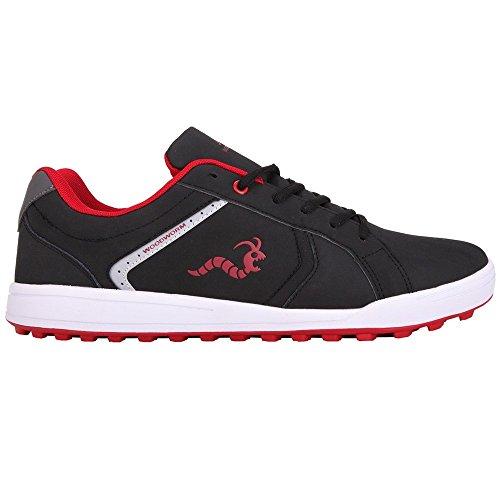 Woodworm Surge V2 Golf Shoe- Black/Red Size 9