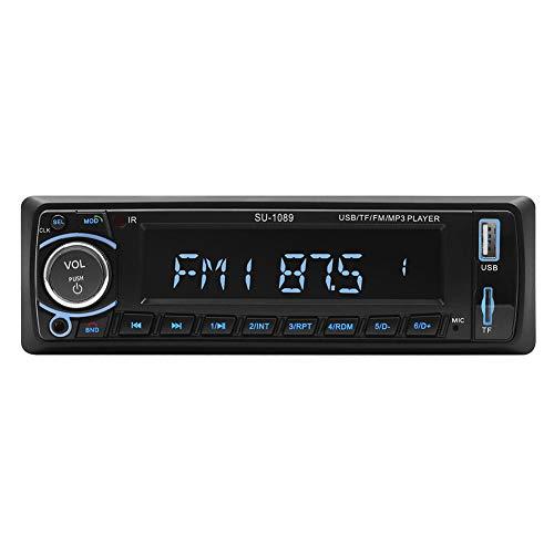 GAX Bluetooth-Auto MP3, Bluetooth-Freisprecheinrichtung Auto MP3-Player, U-Disk TF Card Aux Radio