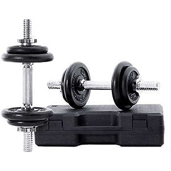 Capital Sports Hexbell Par de Pesas 2 x 22,5 kg (mancuernas ...