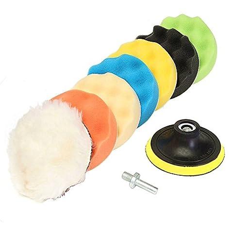 Vococal Tampon de Polissage Polissage Pad Kit pour Polisseuse de