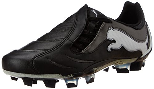 Puma - PowerCat 1.10 FG, Scarpe da calcio Uomo Schwarz/Black-White-Aged Silver
