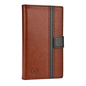 Jo Jo Bali Series Cover Leather Pouch Flip Case For Gionee M5 Brown