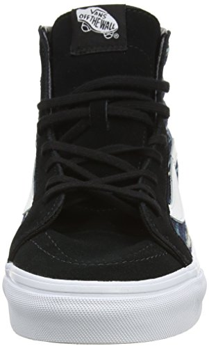 Vans SK8-Hi Slim, Baskets Basses Mixte Adulte Noir (Italian Weave black/multi)