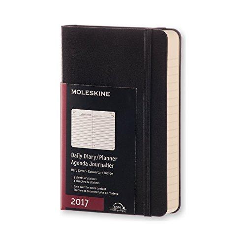 2017 Moleskine Pocket Daily Diary 12 Month Hard por Moleskine
