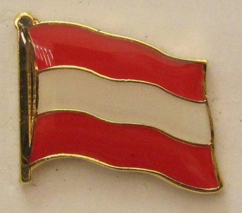 Pin Anstecker Flagge Fahne Oesterreich Österreich Nationalflagge Flaggenpin Badge Button Flaggen Clip Anstecknadel