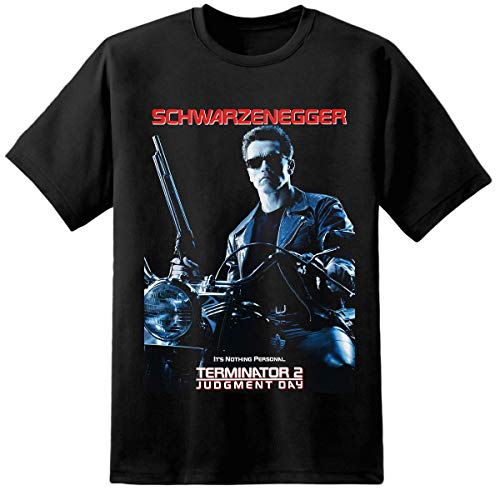 Mens Terminator 2 Judment Day Poster T-shirt, S to 5XL