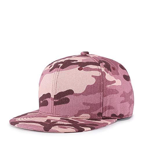 shunlidas Hüte Dekorationen Fischerhutkoreanische Version Der Neuen Herbststraße Männer Und Frauen Tarnung Nackten Hip-Hop-Hut, Einstellbar, Pink-Schwarz Phantasie Farbe