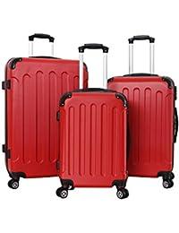 pellicano - Juego de maletas  Rojo rojo