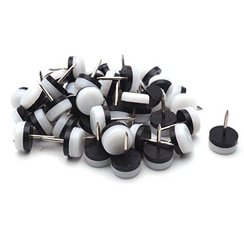 Antrader Möbelgleiter zum Aufnägeln von Möbeln, Möbelgleiter, Tisch, Stuhl, Sofa, Beine, gepolstert, rutschfest, Bodenschutz, 50 Stück Gepolsterte Rutschfeste