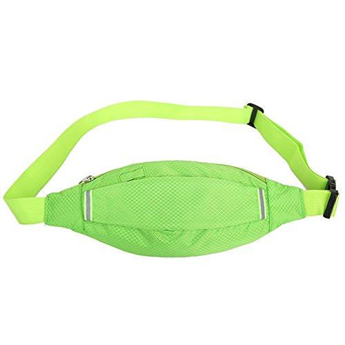 Reefa Unisex Diamant-förmigen Sommer Running Sport Multifunktionale Taille Tasche Grün